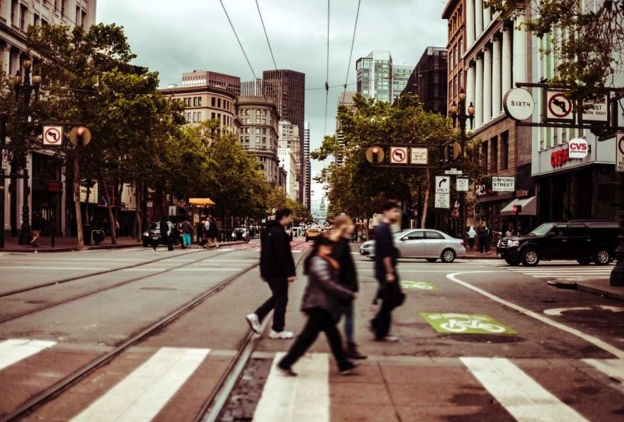 San Francisco Pedestrians on Market Street