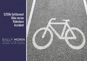 $250k Settlement Bike versus Rideshare Accident