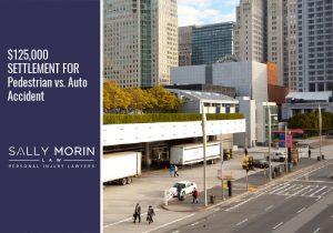 $125,000 SETTLEMENT FOR Pedestrian vs. Auto Accident