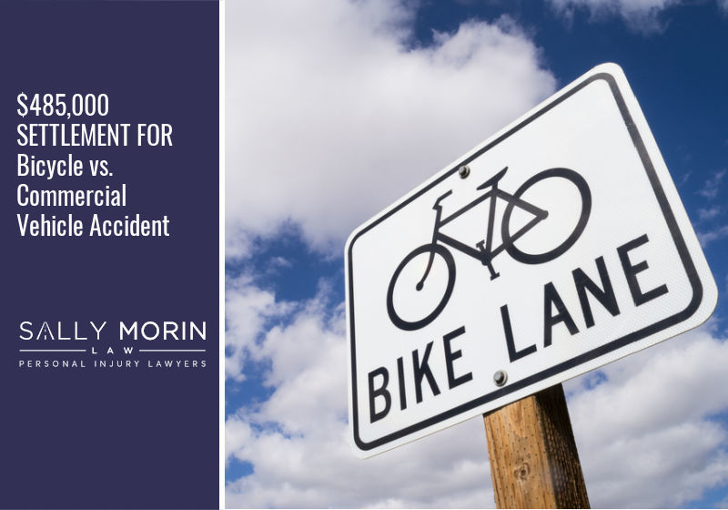 $485,000 SETTLEMENT FOR Bicycle vs. Commercial Vehicle Accident